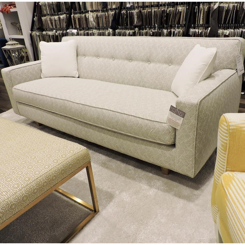 "Dorset 80"" Bench Cushion Sofa by Rowe at Belfort Furniture"