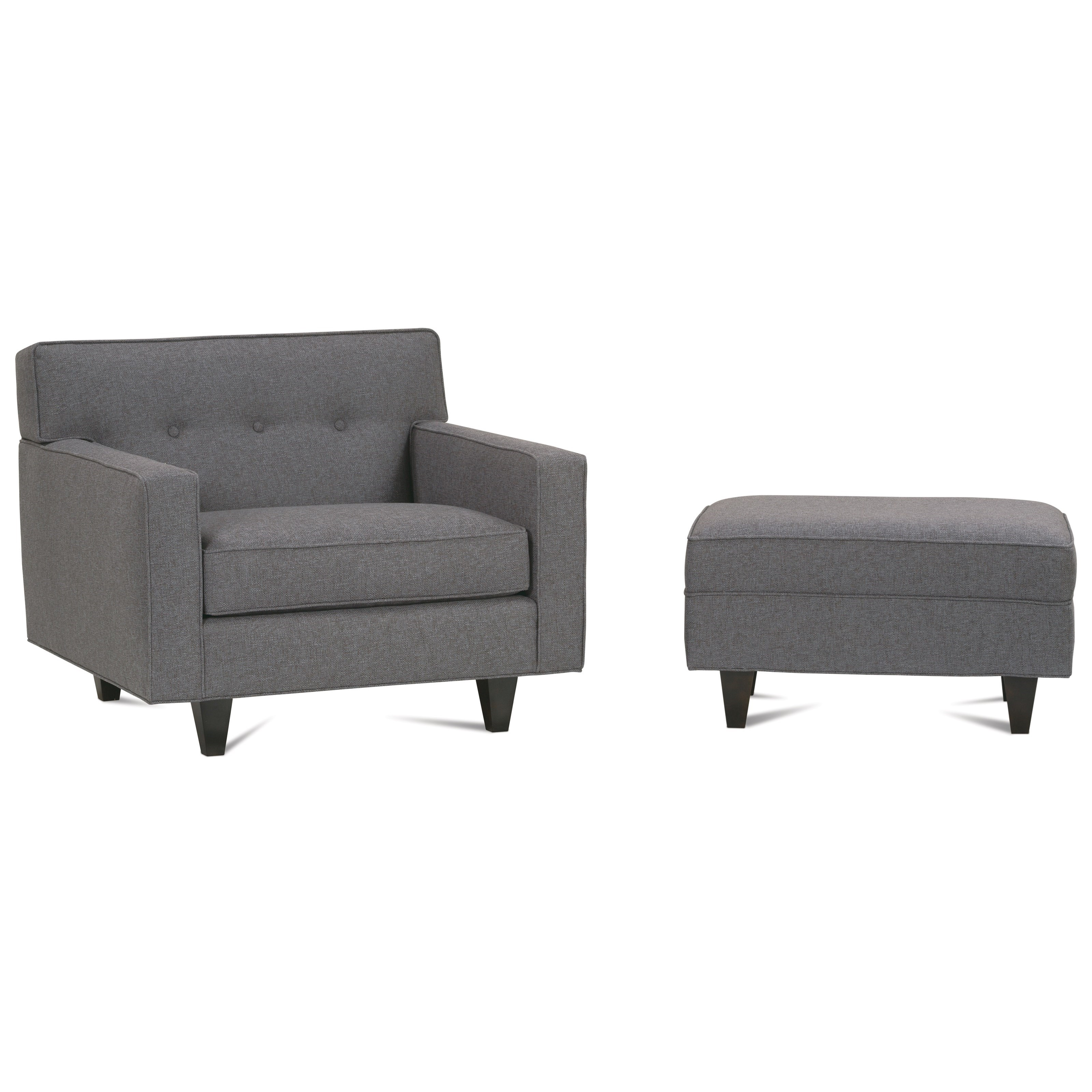 Dorset Upholstered Chair & Ottoman by Rowe at Saugerties Furniture Mart