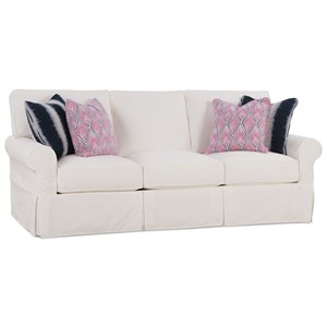 Casual Queen Sleeper Sofa with Slipcover