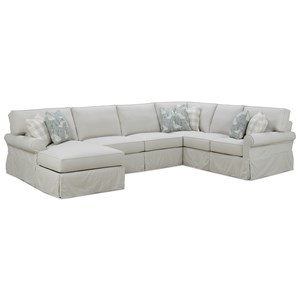 Casual Sectional Sofa with Slipcover