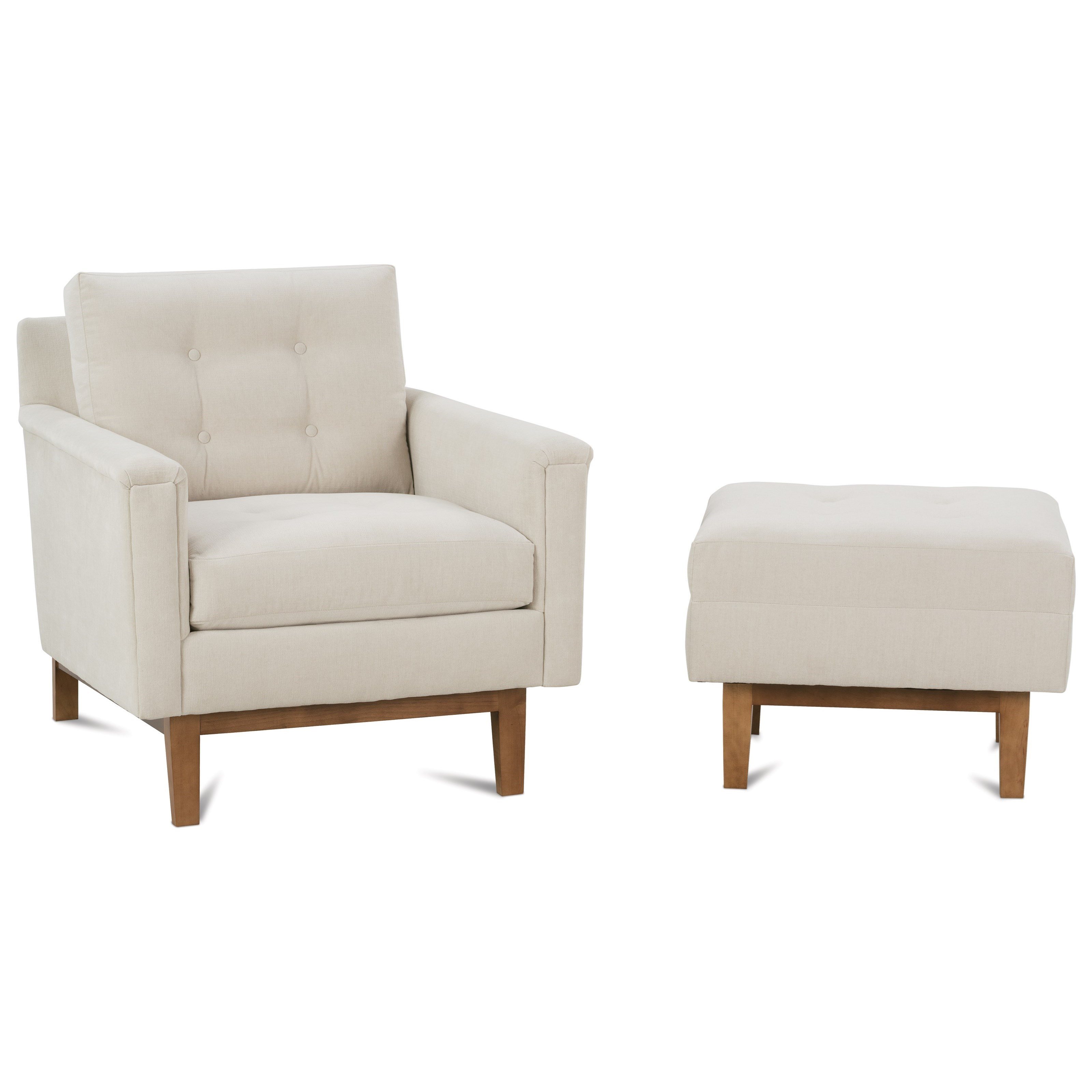 Ethan  Chair and Ottoman Set by Rowe at Baer's Furniture