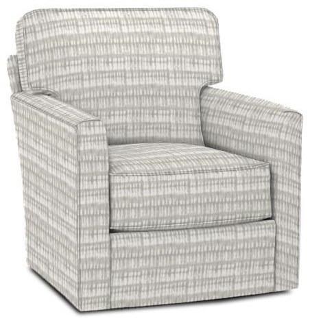 Evan Swivel Chair by Rowe at Crowley Furniture & Mattress