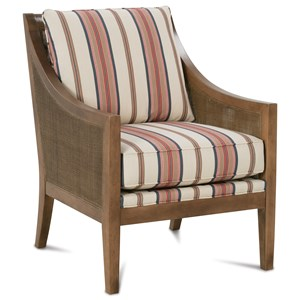 Casual Accent Chair with Woven Wood Bands