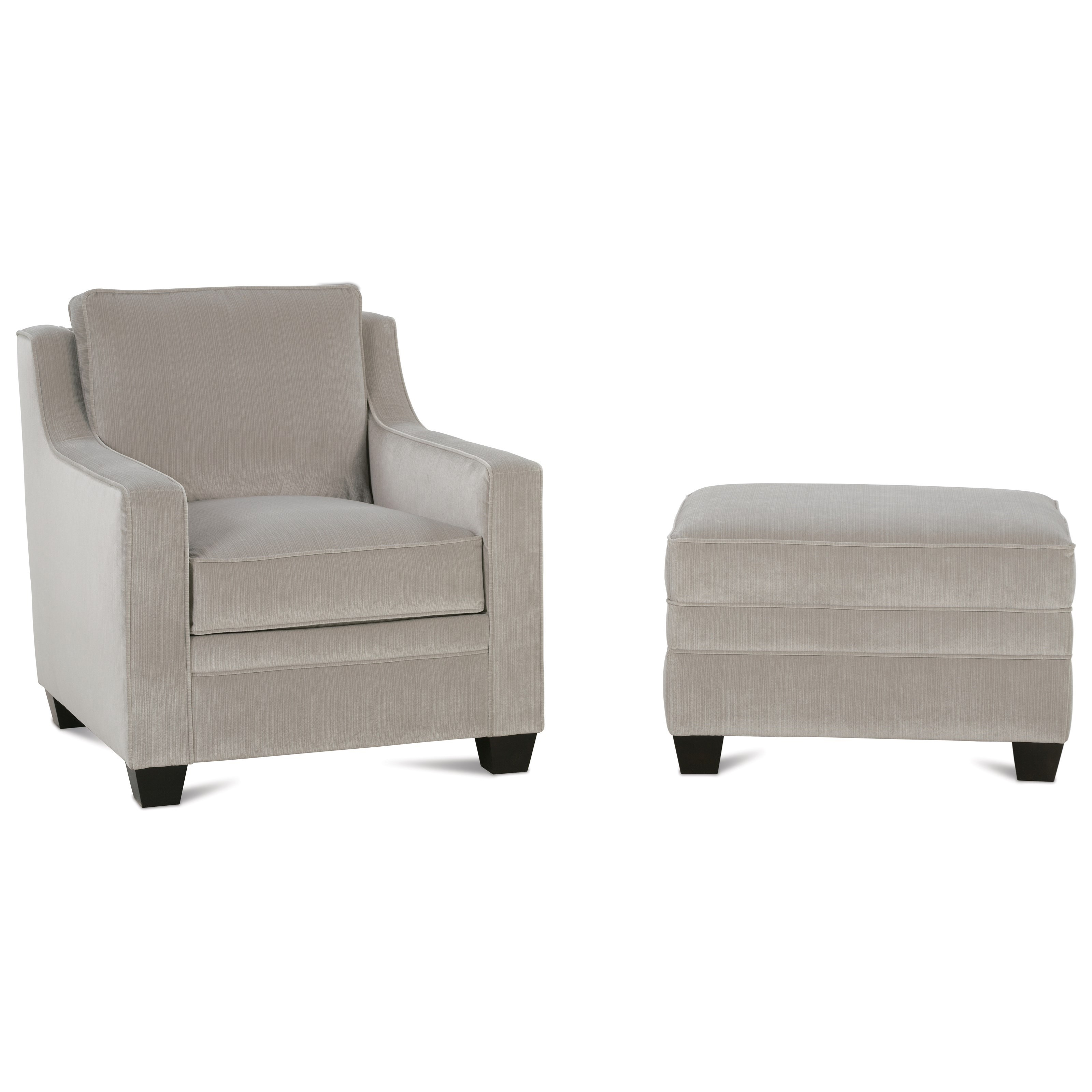 Fuller Chair and Ottoman Set by Rowe at Baer's Furniture