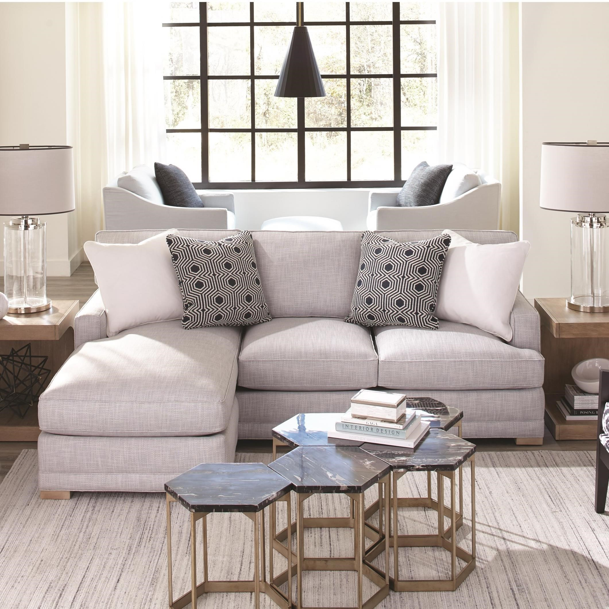 Grayson 2-Piece Sectional with RSE Chaise by Rowe at Baer's Furniture