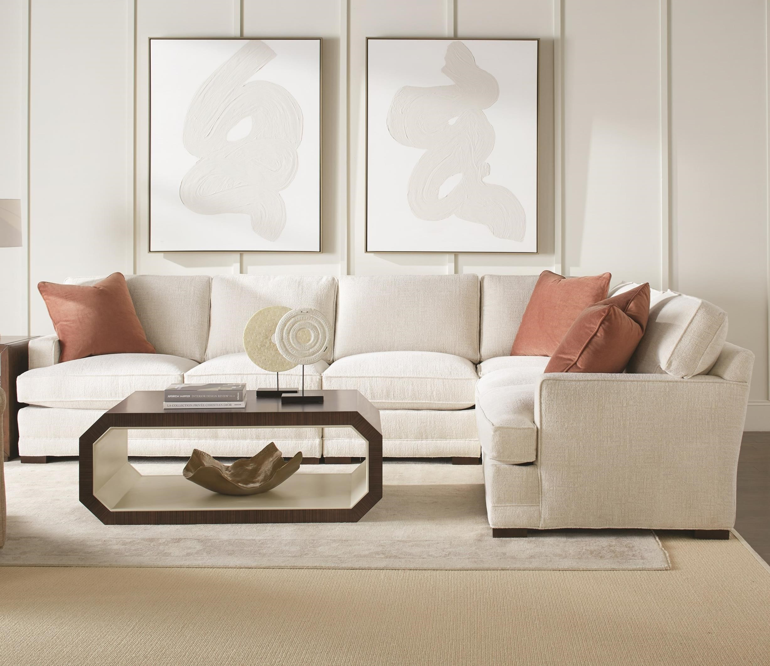 Grayson 3-Piece Sectional with LSE Corner Sofa by Rowe at Bullard Furniture