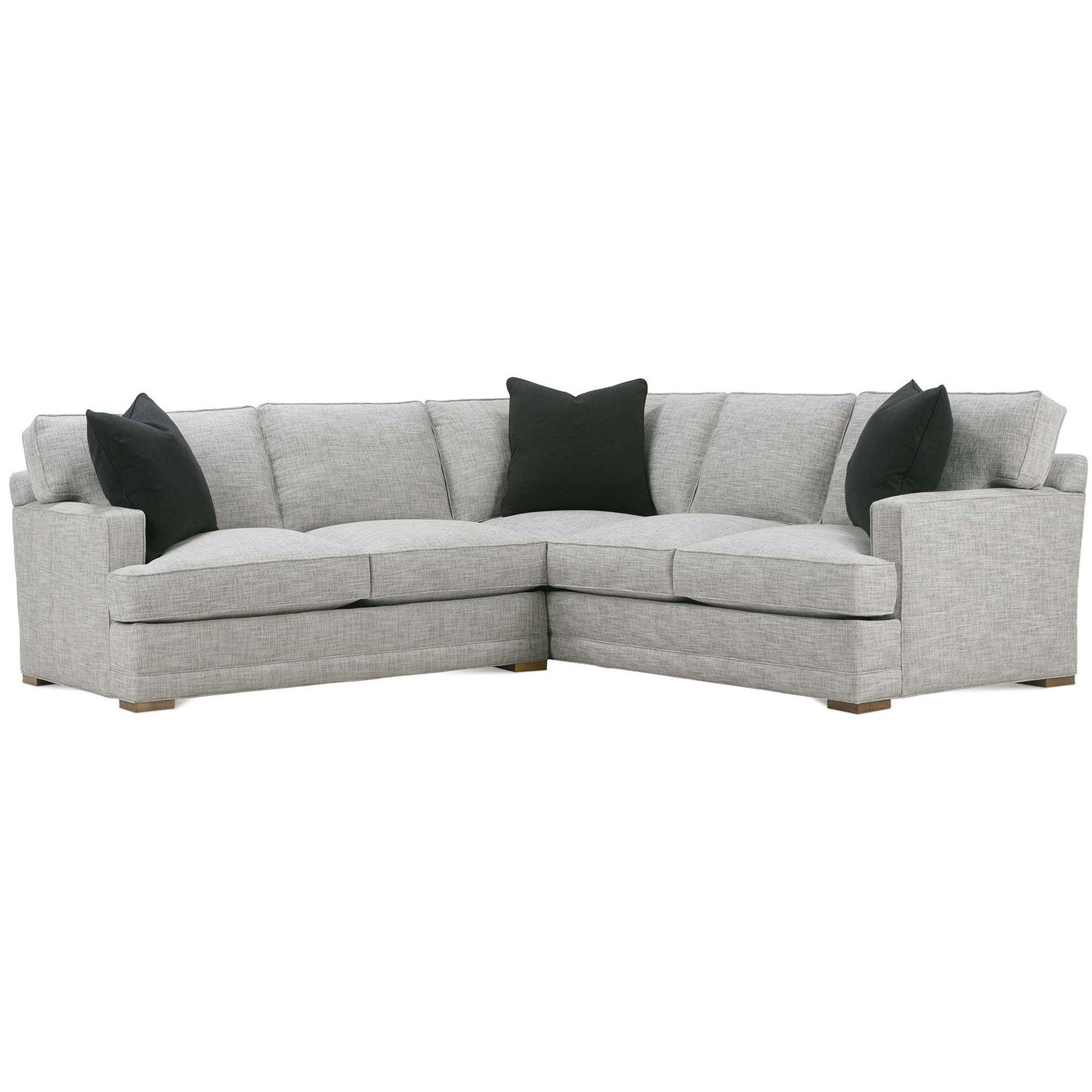 Grayson 2-Piece Sectional with RSE Corner Sofa by Rowe at Baer's Furniture