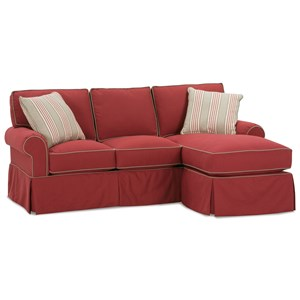 Upholstered Sofa with Chaise Ottoman