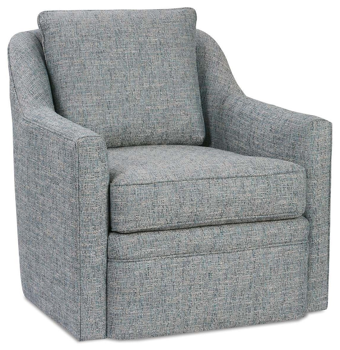 Hollins Accent Swivel Chair by Rowe at C. S. Wo & Sons Hawaii