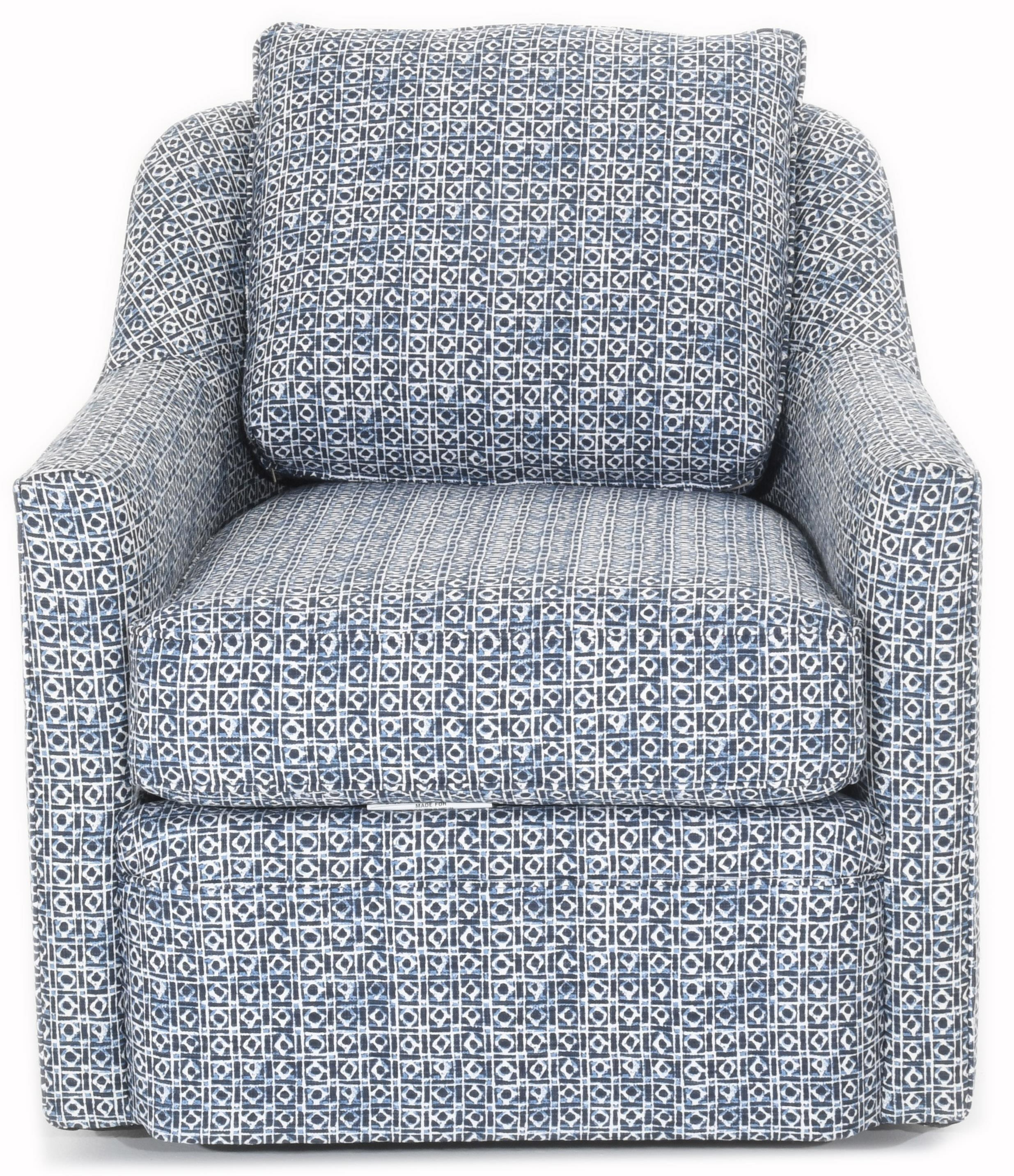 Hollins Swivel Chair by Rowe at Baer's Furniture