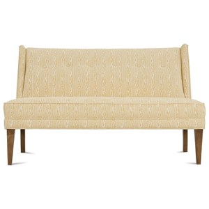 Contemporary Armless Settee with Tufted Back