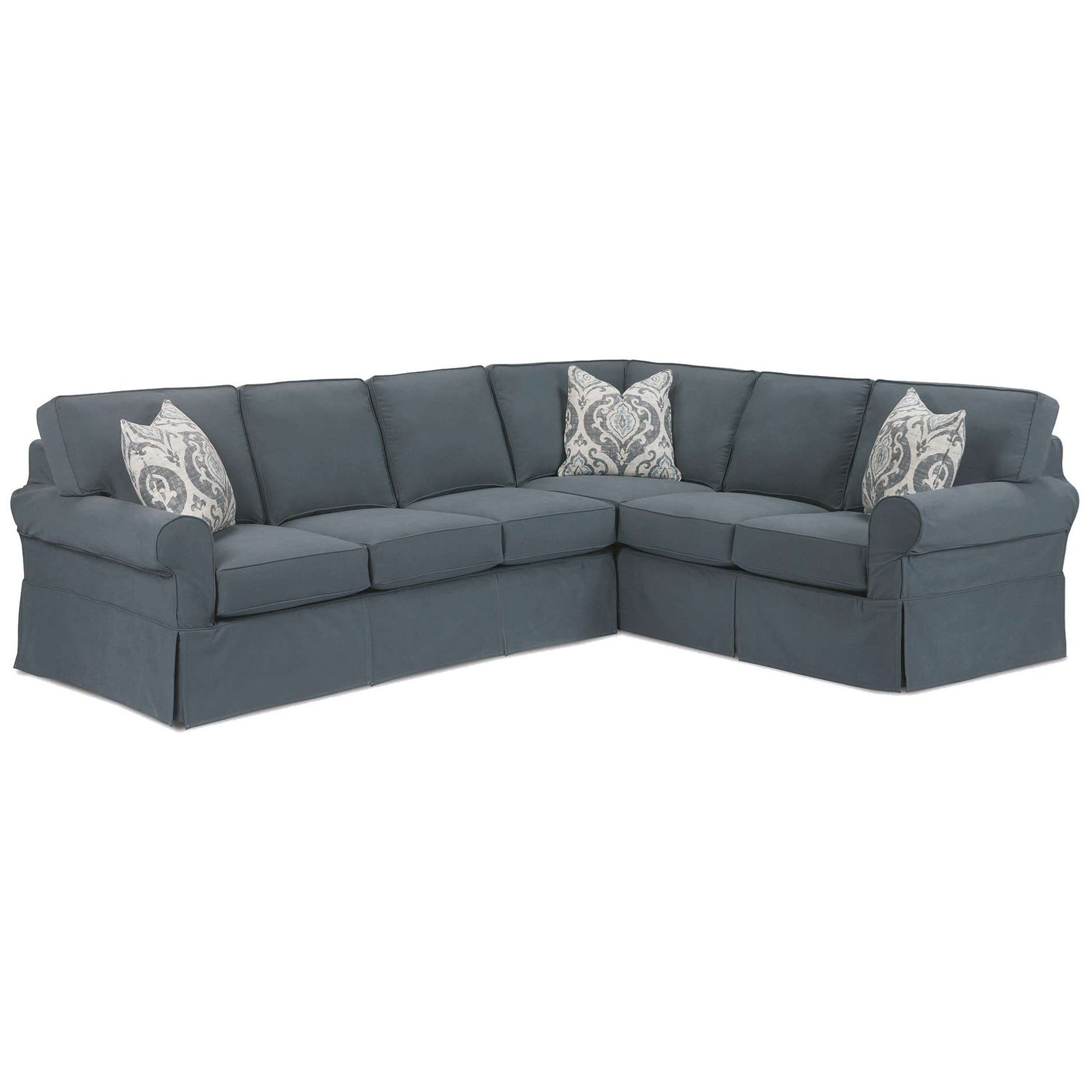Masquerade 2-Piece Slipcovered Sectional by Rowe at Saugerties Furniture Mart