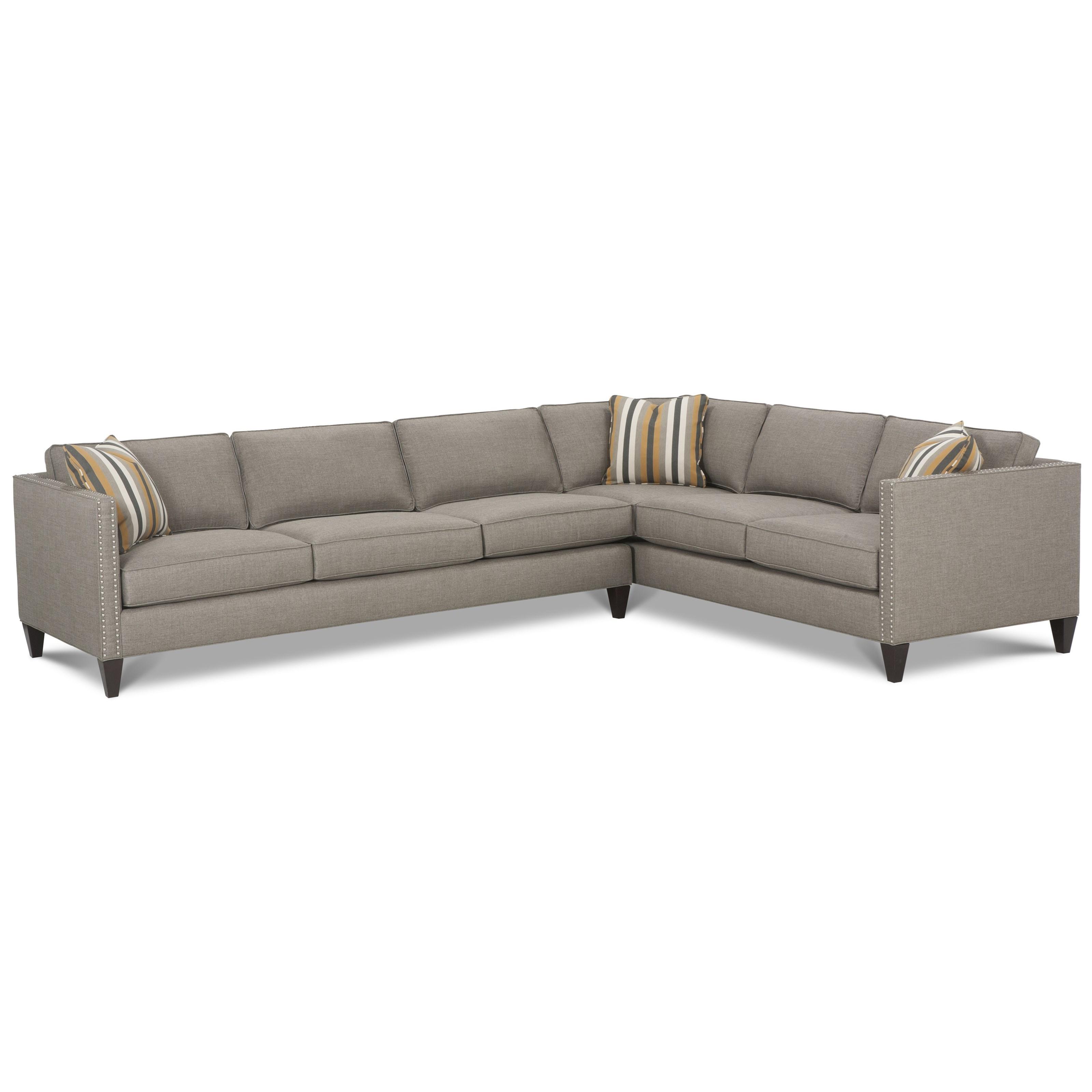 Mitchell - RXO <b>Custom</b> Sectional Sofa by Rowe at Baer's Furniture