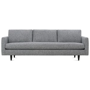 Contemporary Large Sofa with Tapered Feet
