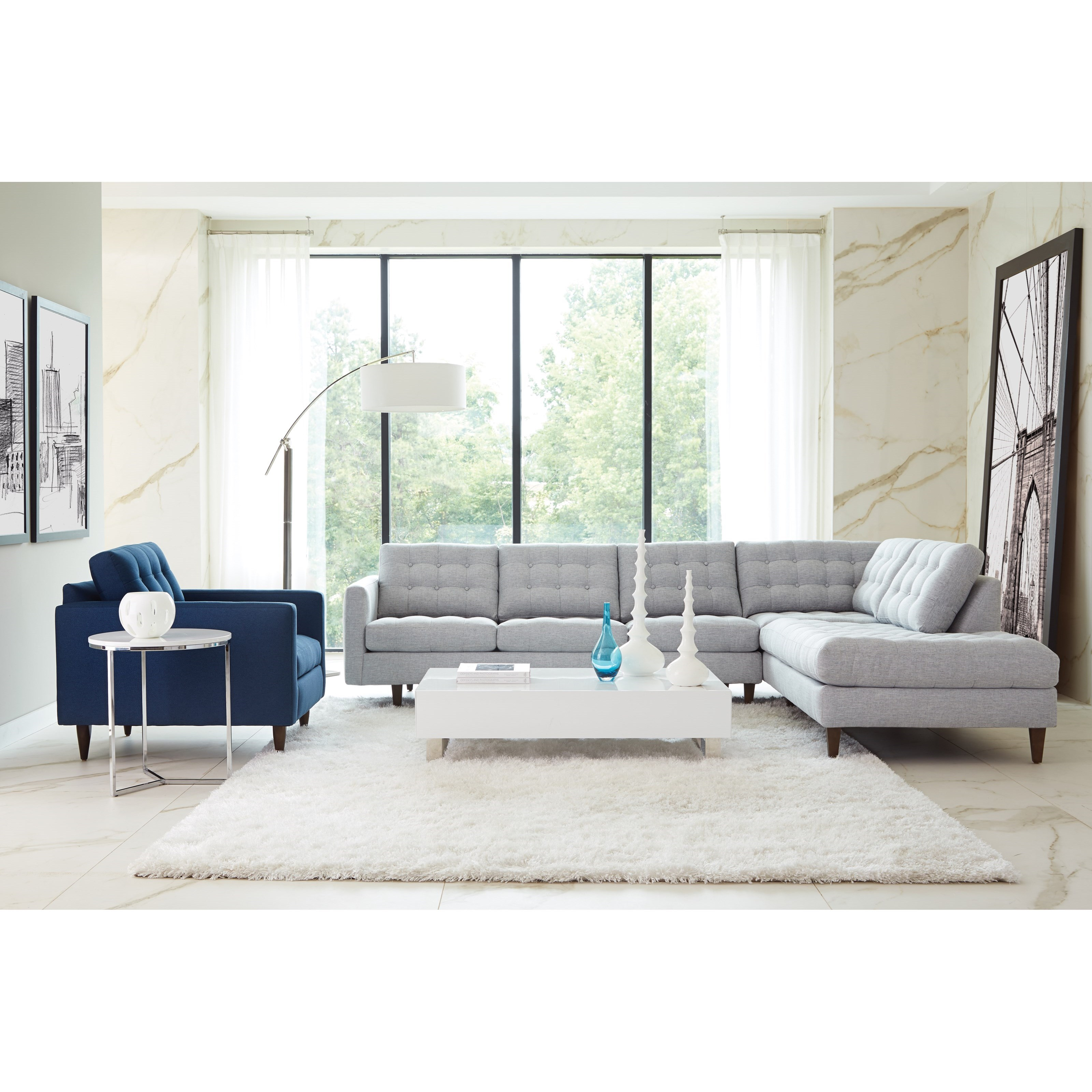 Modern Mix Stationary Living Room Group by Rowe at Baer's Furniture