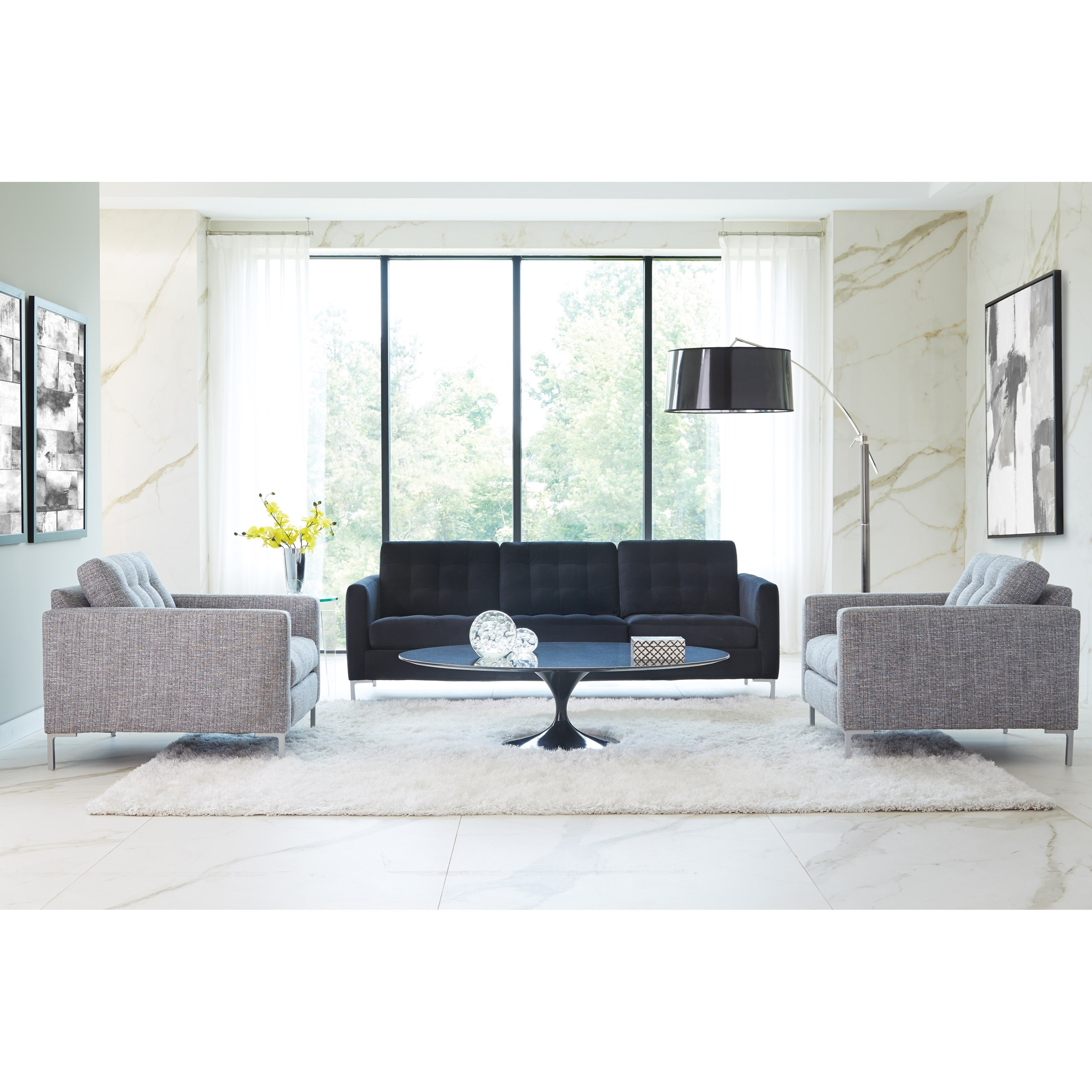 Modern Mix Stationary Living Room Group by Rowe at Saugerties Furniture Mart