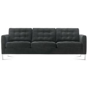 Contemporary Sofa with Chrome Legs