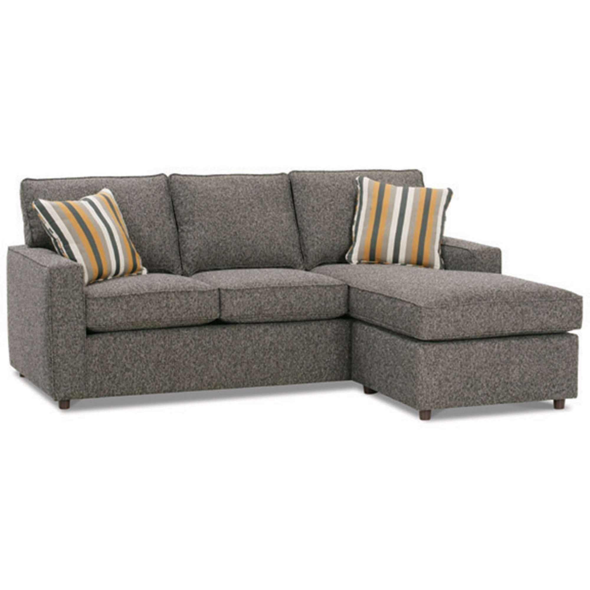 Monaco Transitional Sofa with Chaise by Rowe at Baer's Furniture