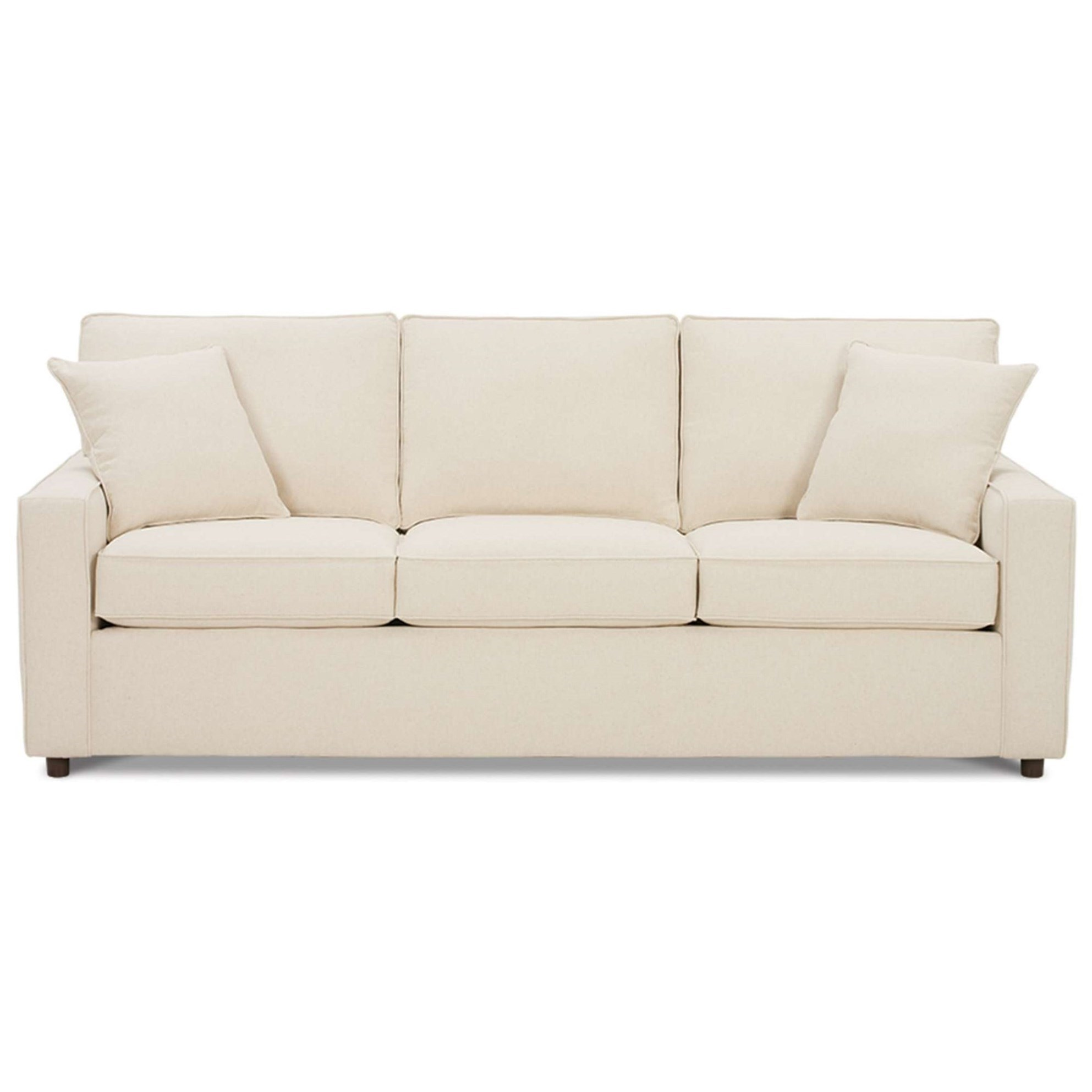 Monaco Transitional Sofa with Track Arms by Rowe at Bullard Furniture
