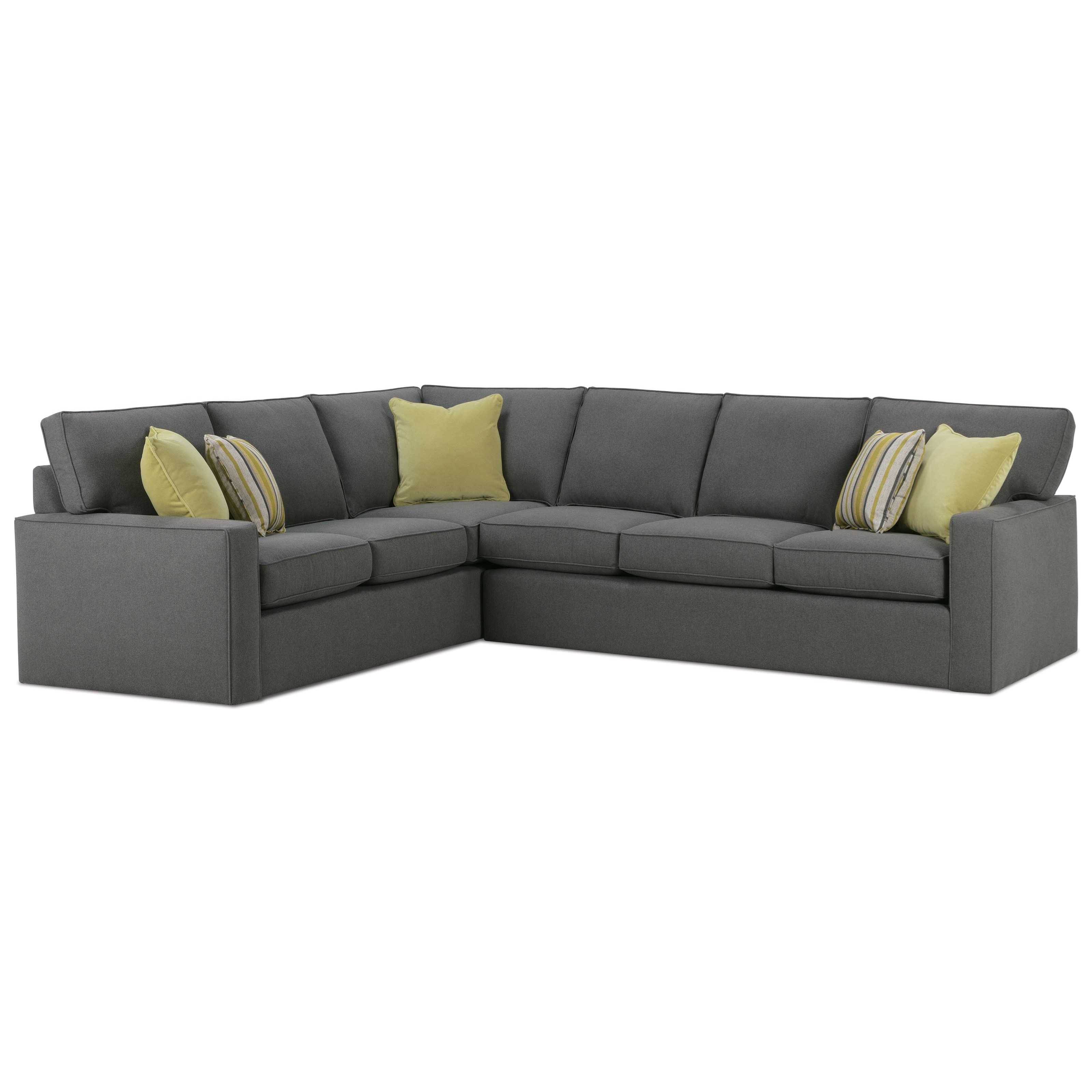 Monaco Sectional Sofa by Rowe at Wilson's Furniture