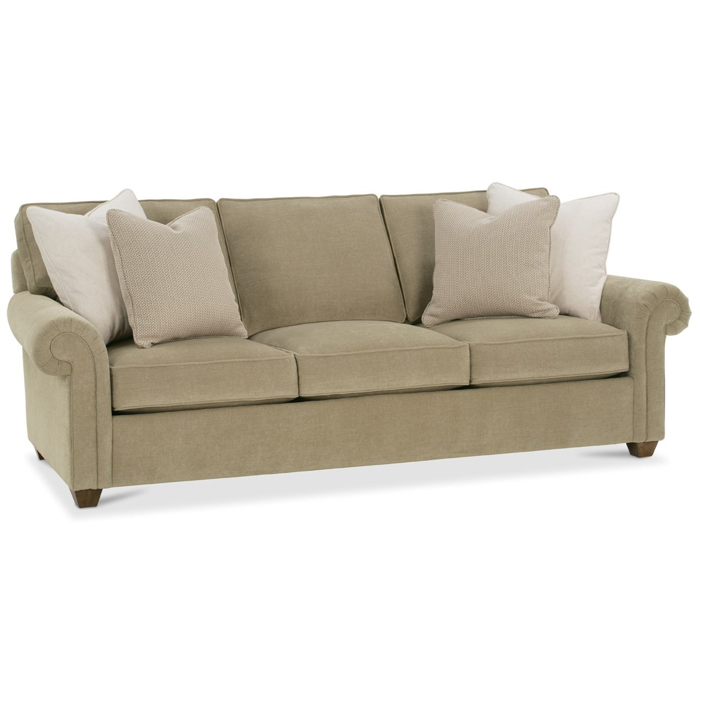 Morgan Traditional Large Sofa by Rowe at Baer's Furniture