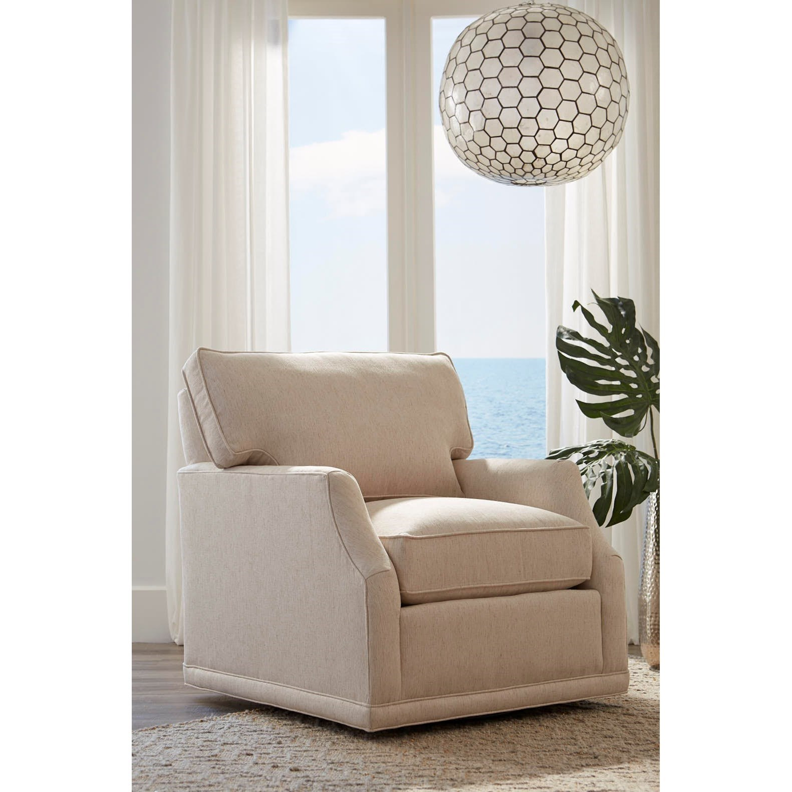My Style II Customizable Swivel Chair by Rowe at Baer's Furniture