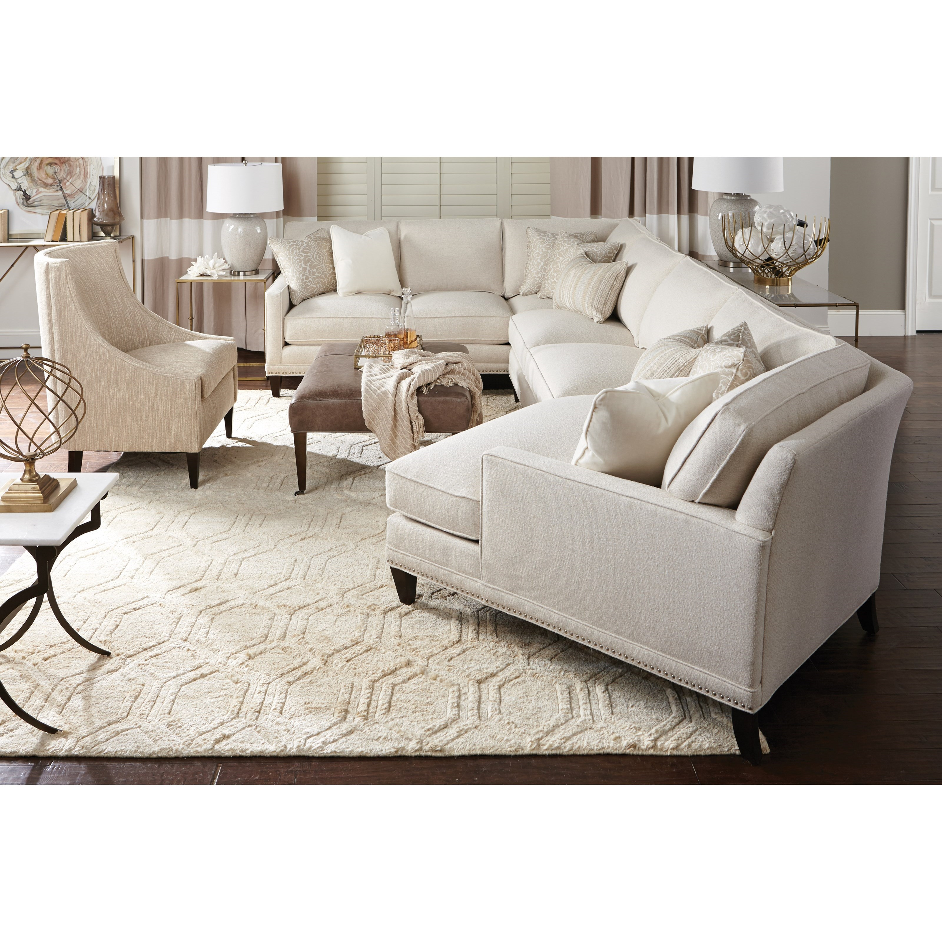 My Style II Customizable Sectional by Rowe at Baer's Furniture