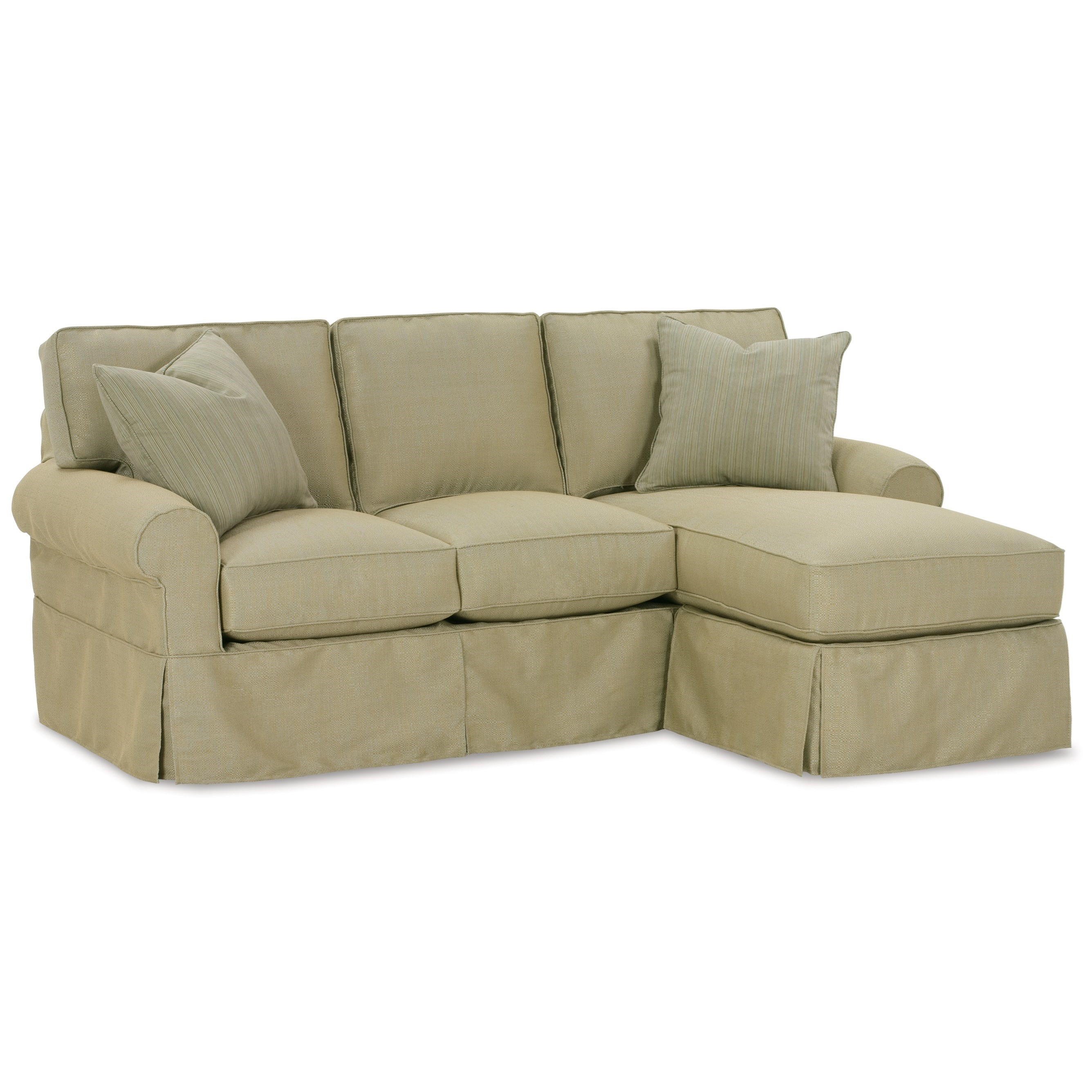 Nantucket  Sofa with Chaise by Rowe at Saugerties Furniture Mart