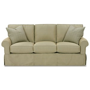Casual Style Sofa with Two Accent Pillows