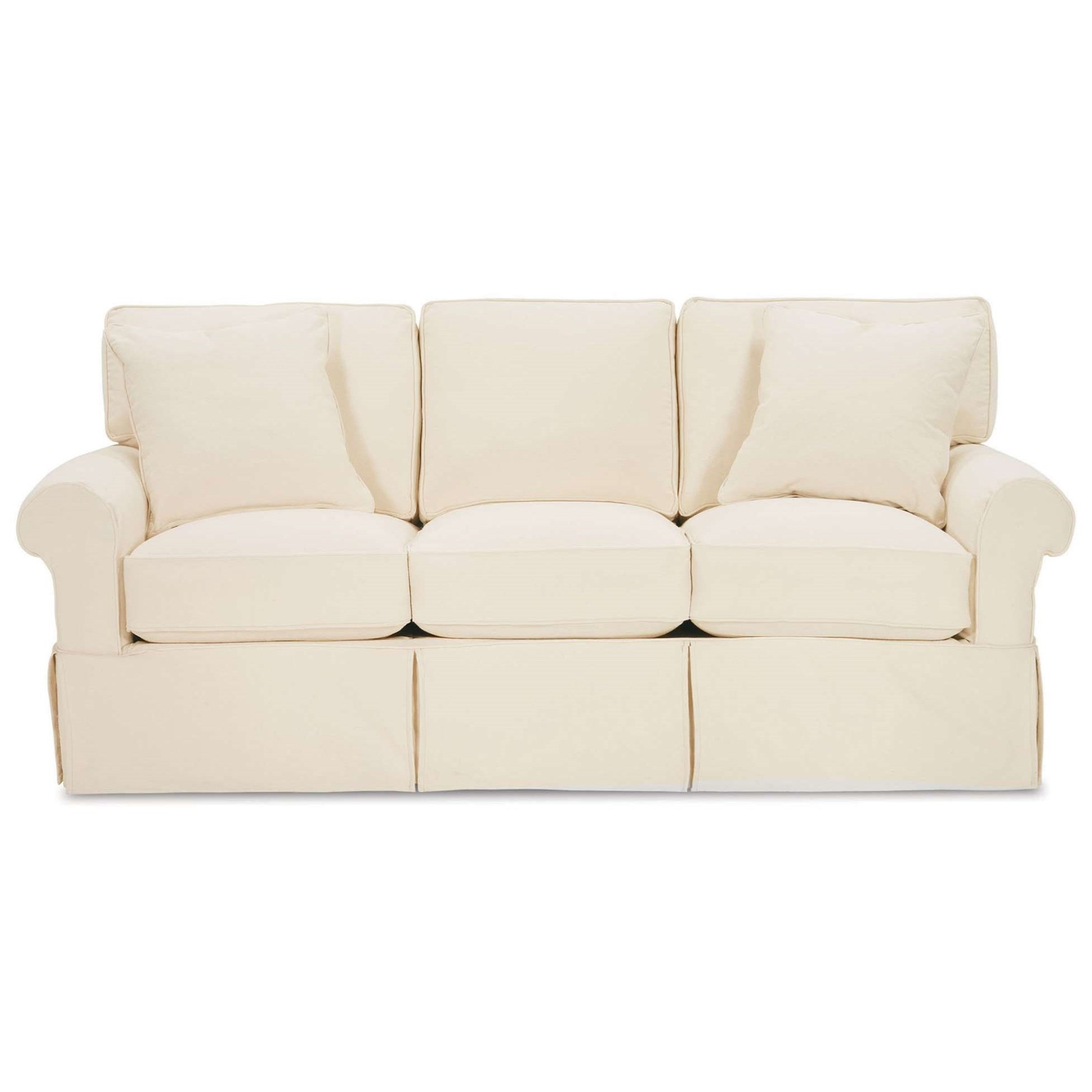Nantucket  Casual Sofa with Rolled Arms by Rowe at Saugerties Furniture Mart
