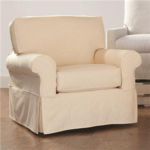 Rowe Nantucket  Swivel Glider with Slipcover