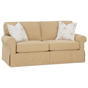 Transitional Sleeper Sofa with Skirted Base
