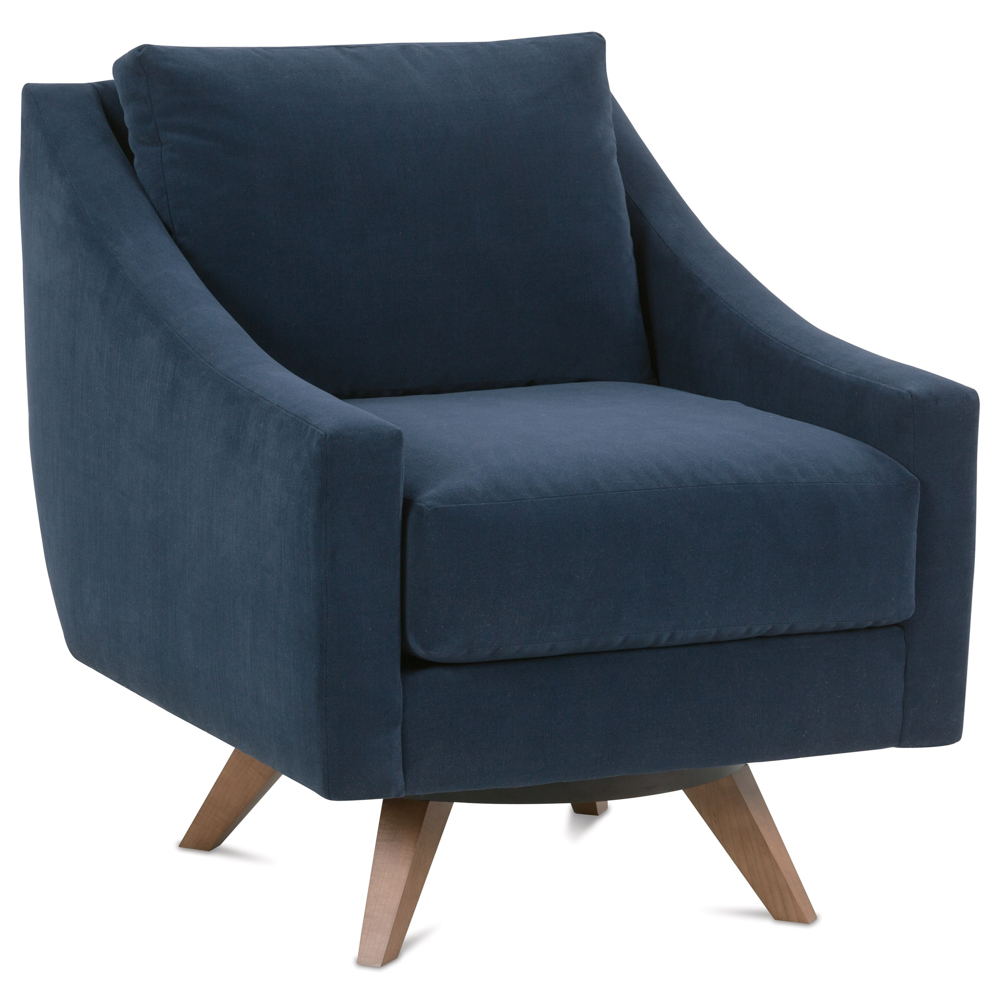 Nash Contemporary Swivel Chair by Rowe at Johnny Janosik