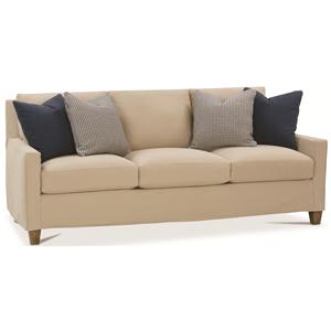Contemporary Slip Cover Sofa with Track Arms