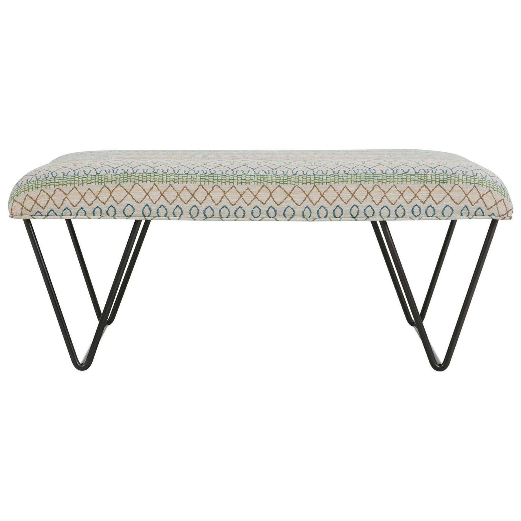 Juno Ottoman by Rowe at Baer's Furniture