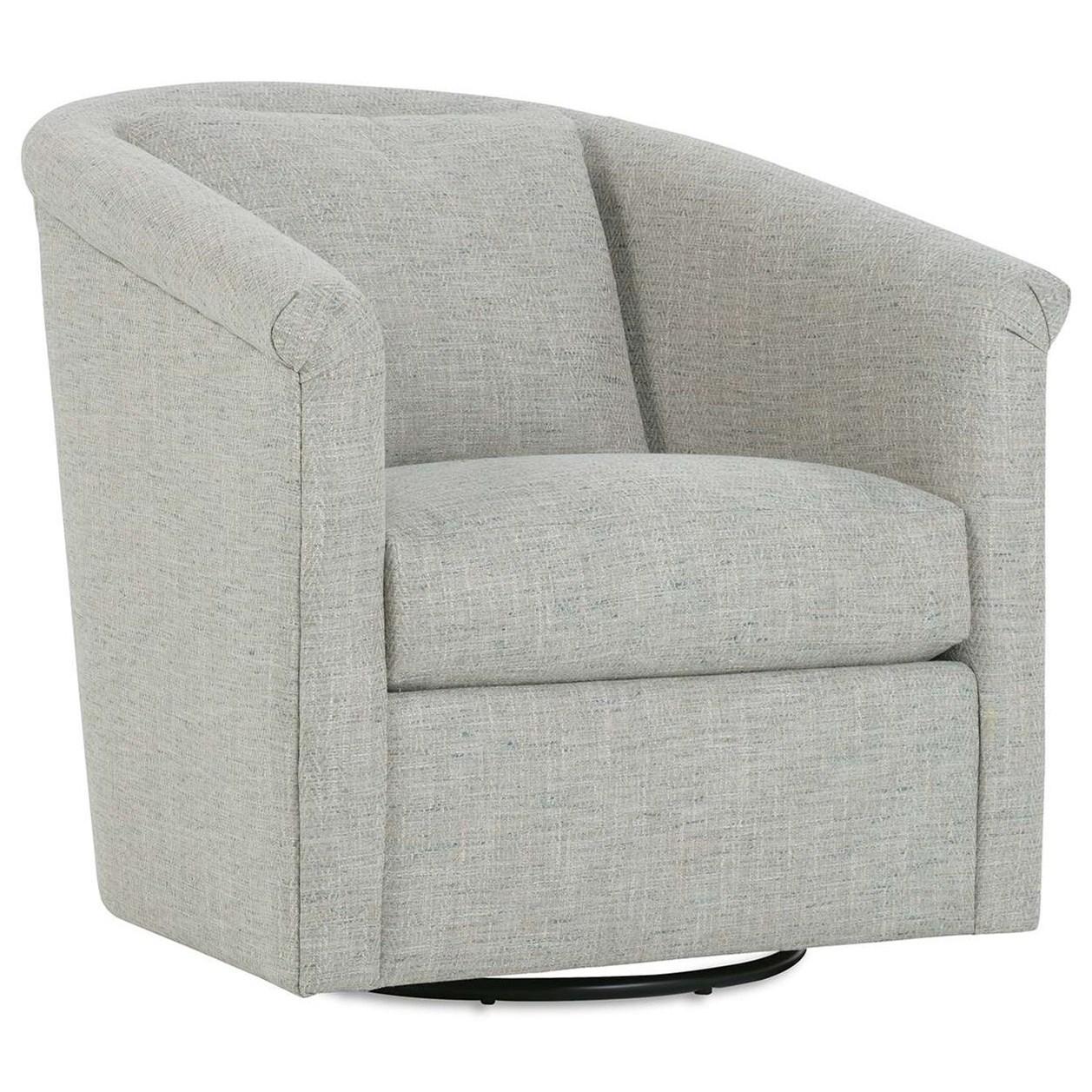 Wrenn Swivel Chair  by Rowe at Baer's Furniture