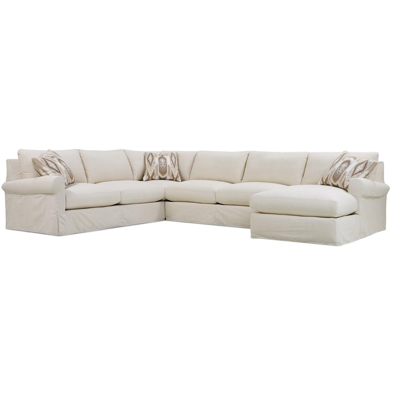 Aberdeen Slipcovered Sectional Sofa by Rowe at Baer's Furniture