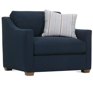 Transitional Chair with Loose Pillow Back
