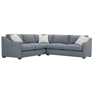 Transitional Sectional Sofa with Loose Back Pillows