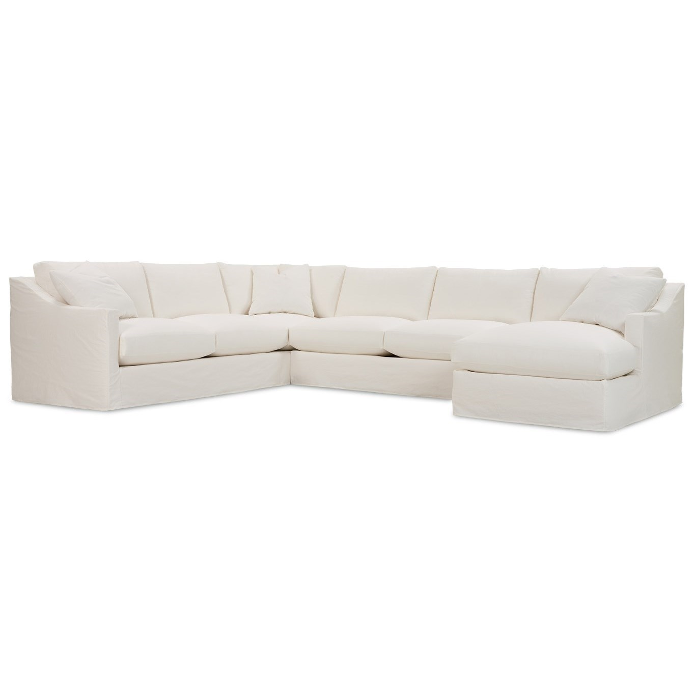 Bradford Slipcovered Sectional Sofa  by Rowe at Baer's Furniture
