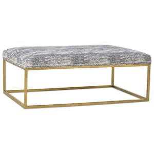 Cocktail Table Ottoman with Metal Frame