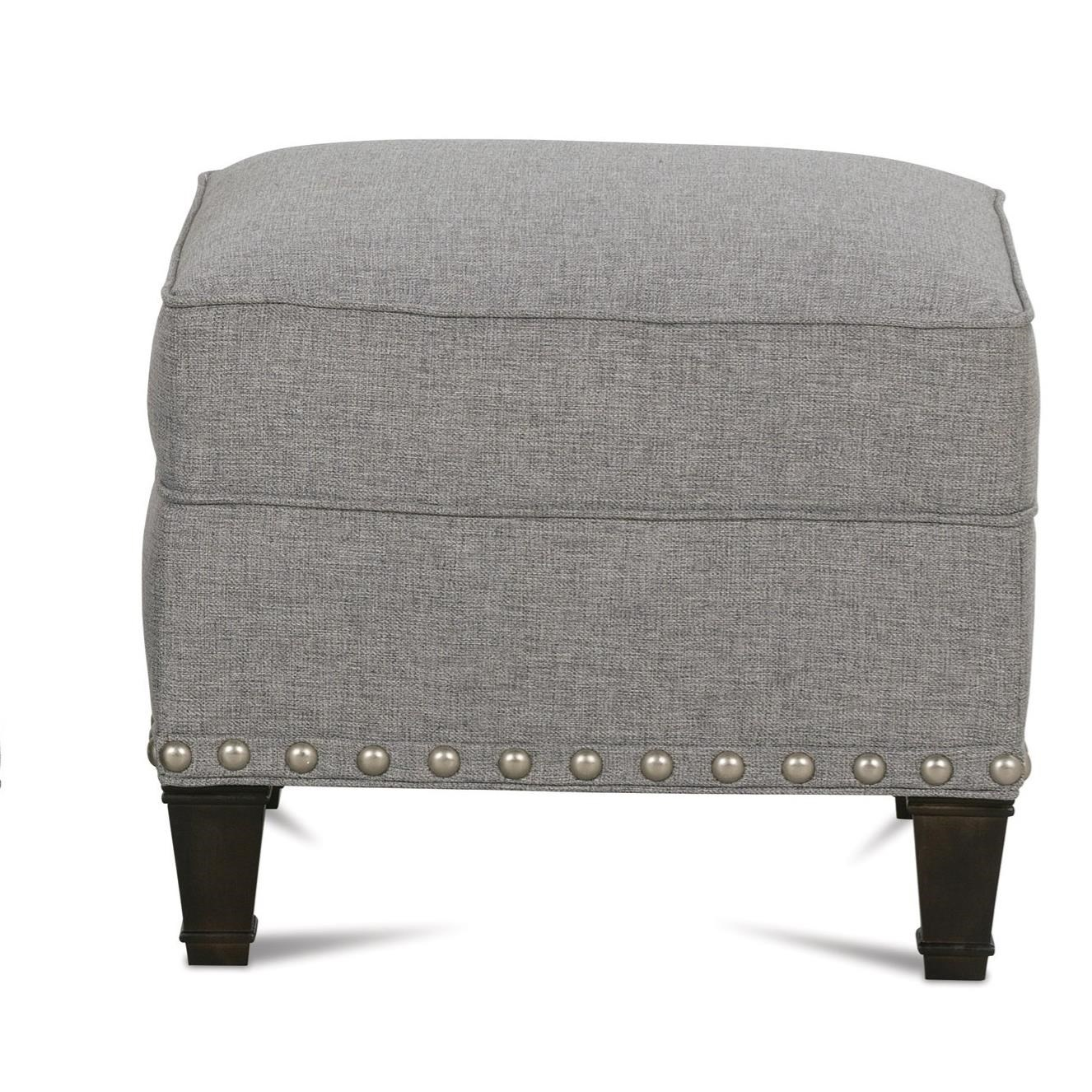 Rockford Traditional Upholstered Ottoman by Rowe at Baer's Furniture