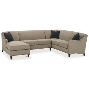 Traditional 3 Piece Sectional with Chaise