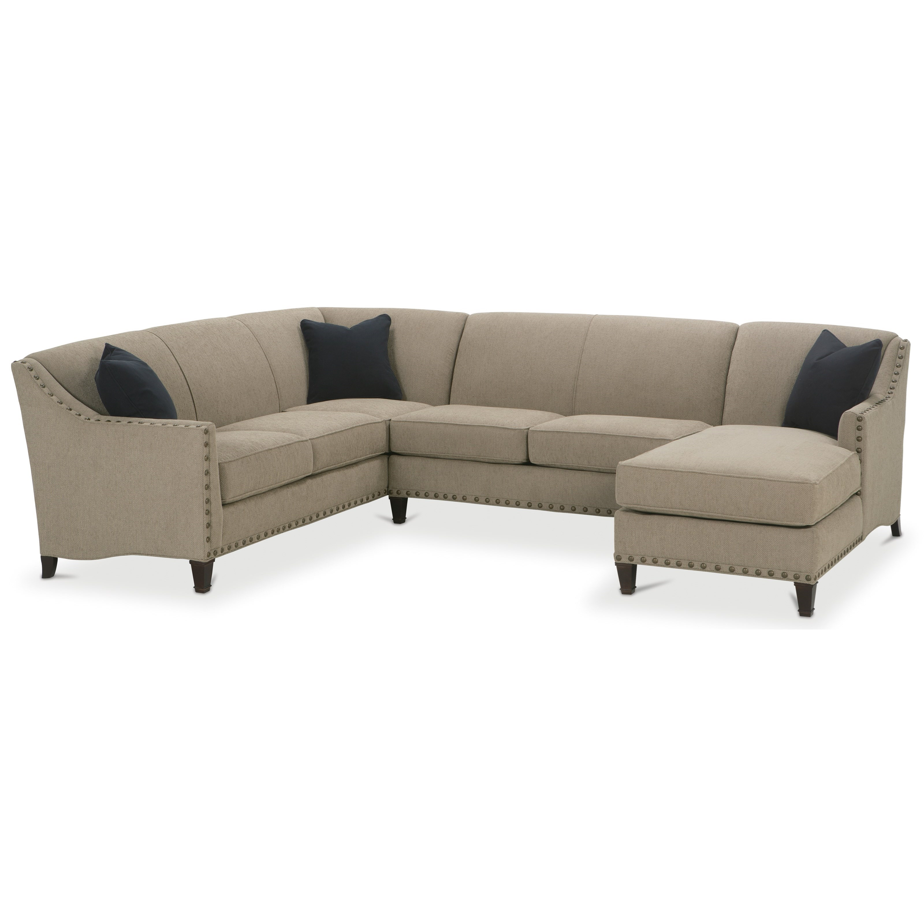 Rockford Traditional 3 Piece Sectional by Rowe at Story & Lee Furniture