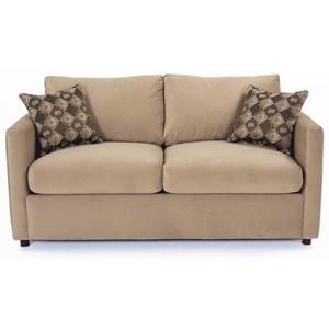 Contemporary Two Cushion Full Sleeper Sofa