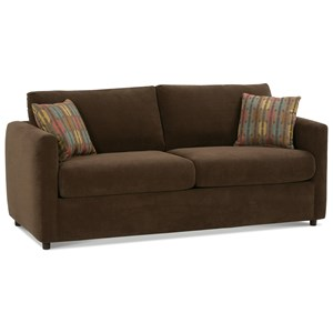 Contemporary Queen Sleeper Sofa with Track Arms
