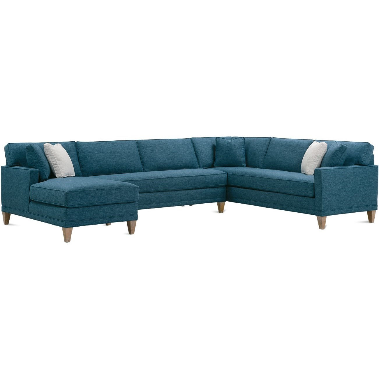 Townsend 3-Piece Bench Cushion Sectional by Rowe at Bullard Furniture
