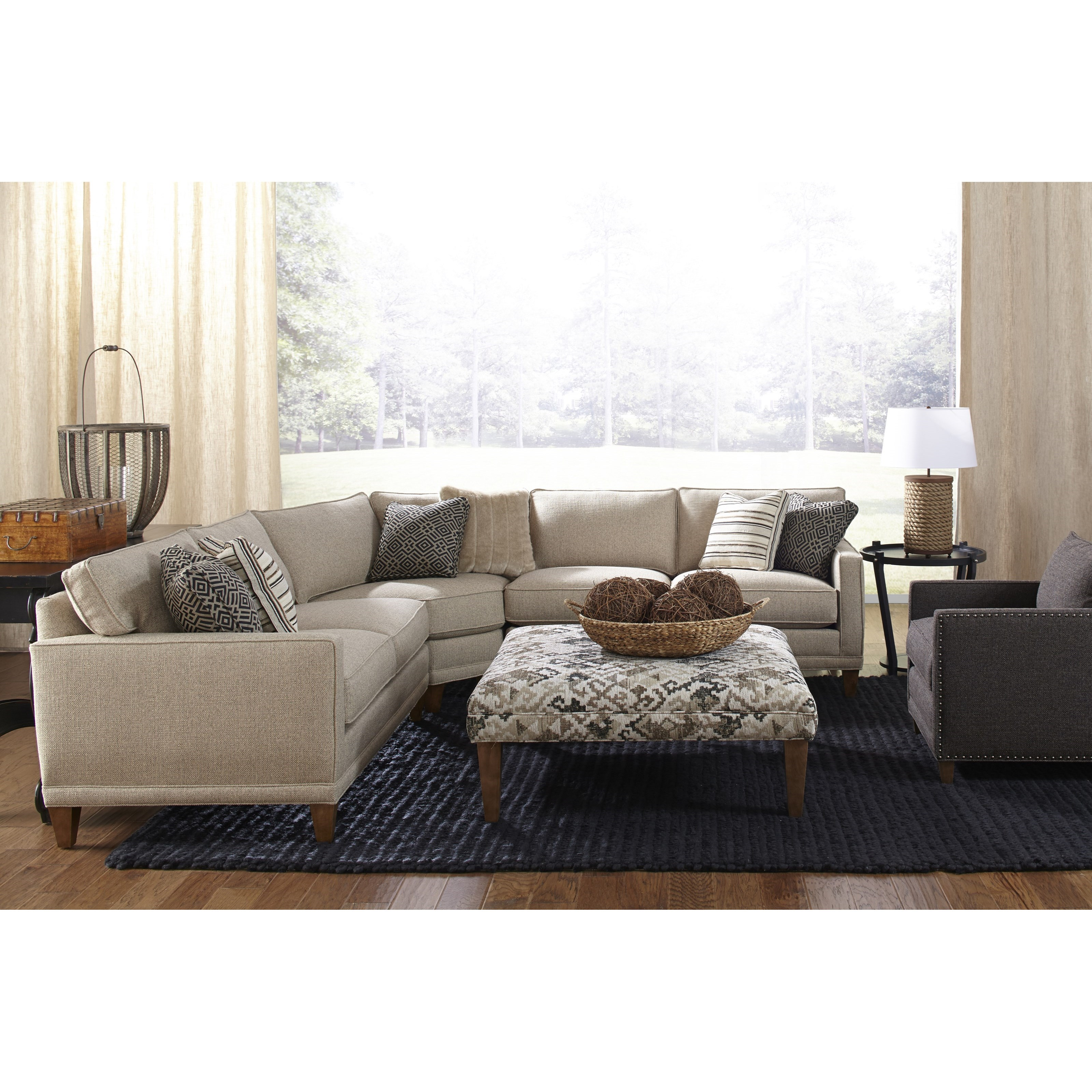 Townsend Three Piece Sectional Sofa by Rowe at Belfort Furniture