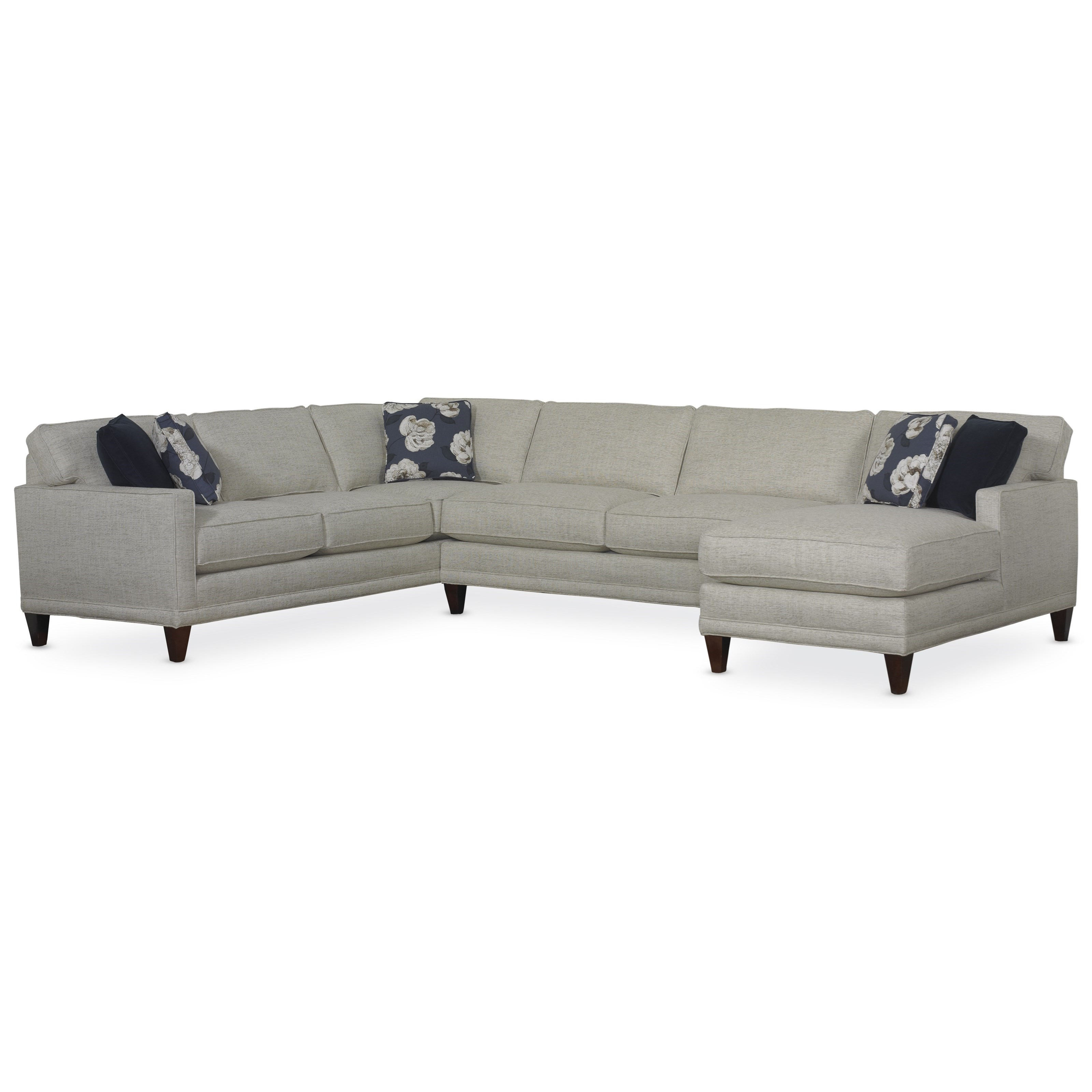 Townsend Three Piece Sectional Sofa Group by Rowe at Thornton Furniture