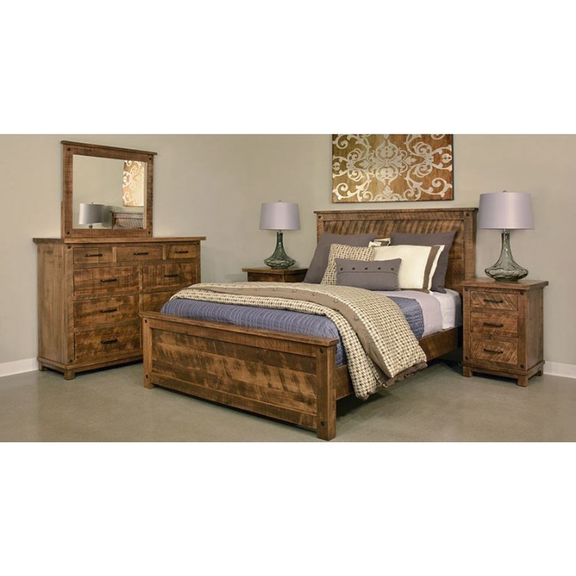 Adirondack Queen Bedroom Group by Ruff Sawn at Jordan's Home Furnishings
